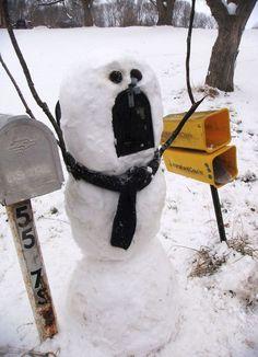 pupazzi di neve creativi