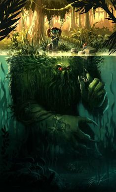 surreal art, fantasy art, monsters