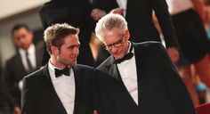 David Cronenberg, right, with Robert Pattinson at the premiere of Cosmopolis at the Cannes Film Festival.