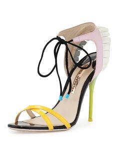 Maribel Fill 100mm Sandal, Multi, Women's, Size: 37.5B/7.5B, Pink - Sophia Webster