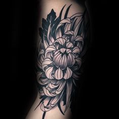 100 Chrysanthemum Tattoo Designs For Men - Idées Encre Fleur - Club Tatouage