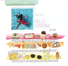 Hello Sunshine - Scrapbook.com - Made with Simple Stories Summer Vibes collection