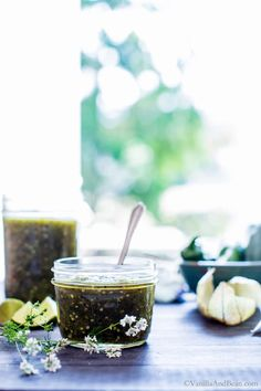 Use it as a dip, or sauce in chilaquiles or your favorite enchilada recipe. A little sweet(ish) and a little spicy, homemade Roasted Tomatillo Salsa Verde is packed with flavor, super simple to whip up and freezer friendly! Tomatillo Salsa Verde, Roasted Tomatillo Salsa, Mexican Food Recipes, Vegan Recipes, Vegan Food, How To Make Salsa, Homemade Spices, Enchilada Recipes, Spice Mixes