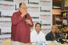 Michael Ferreira sharing his thoughts about the book and Satyen. — with Michael Ferreira, Satyen Nabar and Naseeruddin Shah at Landmark.