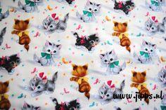 Een persoonlijke favoriet uit mijn Etsy shop https://www.etsy.com/nl/listing/384423872/stof-kitties-michael-miller-fabrics