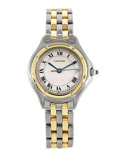 Cartier Cougar Two Tone Watch