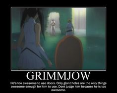 Grimmjow - too awesome for doors....hey don't hate cause he's so awesome.....