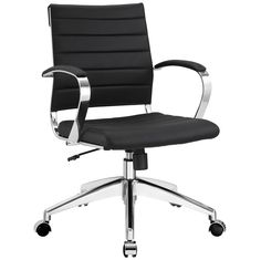 Jive Mid Back Office Chair EEI-273-BLK by LexMod