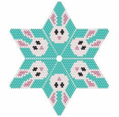 Easter Bunny Beaded Star Pattern Easter Rabbit Star Pattern 3D Beaded Star Pattern using Warped Squares. This is an intermediate to advanced pattern for those that know how to make a warped square and join them into a star. Perfect for Easter or a rabbit lover! Make your own beautiful