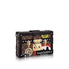 LOUIS VUITTON Petite Malle World Tour. #louisvuitton #bags #shoulder bags #leather #canvas #lining #metallic #