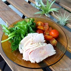 WEBSTA @ nacc_osk - 鳥ハムとセロリの葉とミニトマトのマリネ #food #foodstagram #鳥ハム #マリネ #トマト…