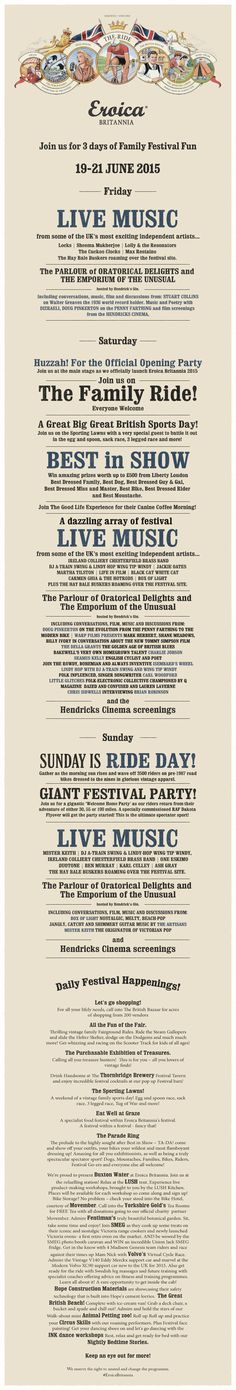 Eroica Britannia - A 3 day family festival in Bakewell, UK Cycling Events, Vintage Cycles, British Sports, Bakewell, Family Day, Festival Party, Live Music, Places, Lugares
