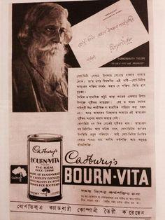Tagore in Bourn-Vita ad