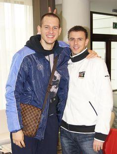 Mariusz Wlazły (#PGESkraBełchatów) & Bartosz Kurek (#DinamoMoscow) :) Tomorrow 2nd match between Skra and Dinamo! bartek will play, it's gonna be a very interesting game!    Fot. http://skra.pl