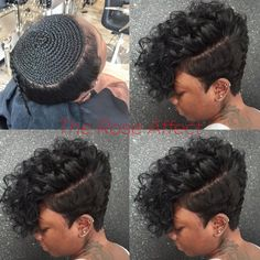 Love This Look My Next Summer Hair Style Buns And Updos with measurements 1080 X 1080 Short Weave Hairstyles With Shaved Sides - Selecting a hairstyle can My Hairstyle, Wig Hairstyles, Short Sew In Hairstyles, 27 Piece Hairstyles, Hairstyles Pictures, Black Girls Hairstyles, Summer Hairstyles, Hairstyles 2016, Curly Hair Styles