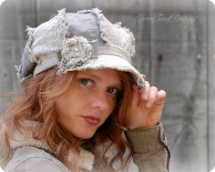 Hey, I found this really awesome Etsy listing at http://www.etsy.com/listing/159411625/shabby-linen-newsboy-hat-in-gray-green Lylas style!!!