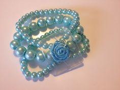 Tiffany Blue Corsage Wristlet by PetalandForrest on Etsy