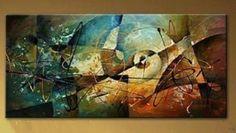 Moderno Abstracto Pintado A Mano Arte Pintura al óleo de decoración de pared de tela (sin Marco) | Arte, Directo del artista, Pinturas | eBay!