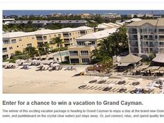 Enter the March Southwest Vacations Sweepstakes for your chance to win a 4-night trip for two to Grand Cayman!