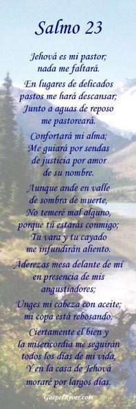 Salmo 23 Catolico En Espanol                                                                                                                                                                                 Más