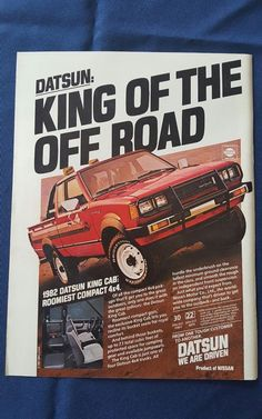 vintage Datsun king of the road advertisement