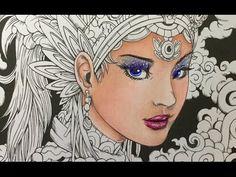 FANTASIA coloring book - color along - prismacolor pencils - part 1 - coloring a face - YouTube