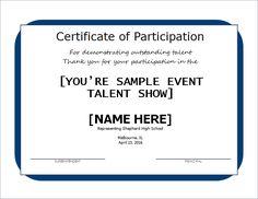 Talent Show Award Certificate DOWNLOAD at http://certificatesinn ...