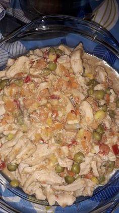 Mézes mustáros csirkecsíkok mexikói zöldségkeverékkel😊 Potato Salad, Food And Drink, Potatoes, Chicken, Meat, Ethnic Recipes, Potato, Cubs