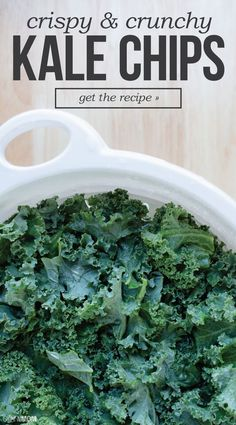 Toss the potato chips and try some of these tasty kale chips.