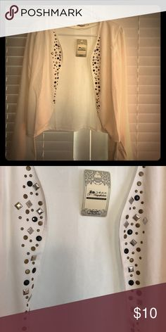 White cardigan Small white cardigan with beaded detail. Size says xL but fits like a small xiuyafashion Tops