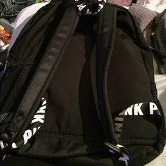 Pink Victoria Secret Bookbag Black and white pink Victoria secret Bookbag PINK Victoria's Secret Bags Backpacks