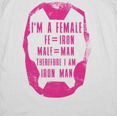 Female Therefore I Am Iron Man par ActivateApparel sur Etsy