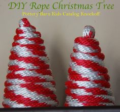 DIY Rope Christmas Tree Decorations - Pottery Barn Kids Catalog Knockoff