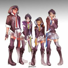 Dick and Tim are definitely the most feminine out of the brothers. Jason, Tim, Damian and Dick