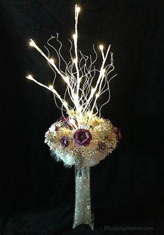 DIY Paper Flower Centerpiece   @PluckingDaisy #DavidTuteraDIY #Wedding