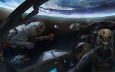 spaceship  hd 2560x1600