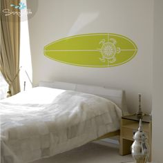 Influenced by the rad surfing from the land down under, Turtle Bay is an awesome design for any beach goer. Smaller than the full size, you can put this surfboard in any bedroom, play room, or beach house!