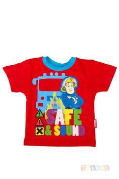 T-shirt Sam le Pompier rouge  https://www.toluki.com/prod.php?id=1185 #samlepompier #Toluki #enfant