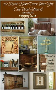 40 Rustic Home Decor Ideas You Can Build Yourself – #DIY & Crafts #homedecor #homeimprovement