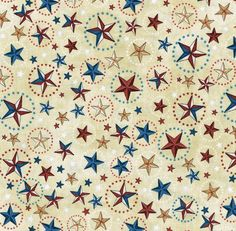 1649-24811-A - Home Of The Brave Stars - 100% Cotton