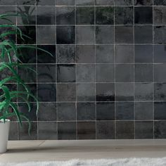 Deze zwarte keramische zelliges bestaan in het formaat 13x13cm. Home Interior Design, Exterior Design, Interior And Exterior, Modern Kitchen Interiors, Küchen Design, New Room, Kitchen Backsplash, Home And Living, Tile Floor