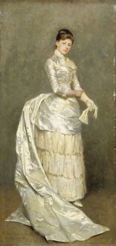 Portrait of Mrs Claus in Bridal Dress by Emile Claus, 1886 the Netherlands, Musea Oost-Vlaanderen in Evolutie