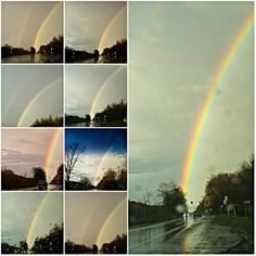 Weekly Photo Challenge: OPTIMISTIC -  the delight of a double rainbow #photography #rainbows #optimism #happiness