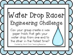 Water Drop Racer: Engineering Challenge Project ~ STEM Activity!  $