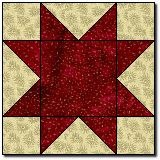 Simple Star Quilt pattern - very cute quilt. Uses  3 different sized stars and strips!