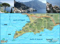 Map of Amalficoast (Italy Campania)