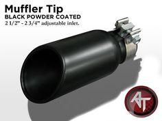 "Black Exhaust Pipe Muffler Tip Universal 2 3/4"" Inlet w/ Clamp 1PC L6 #ZUNDEN"