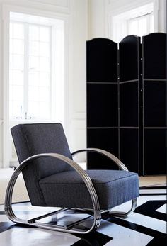Bauhaus-inspired, Ralph Lauren Home's Hudson Street Lounge Chair