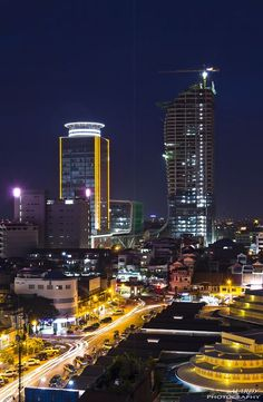 Twilight in Phnom Penh City! by Mardy Suong, via 500px