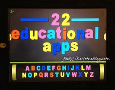 Last week, three people asked me what I thought were the best educational apps for iPad and iPhone. Two more asked this week.  I figured it was worth writing about.  These apps below are geared toward a preschool to 1st grade crowd. If you're looking for a younger audience, check out my 10